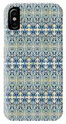 Indigo Ocean - Caribbean Tile Inspired Watercolor Swirl Pattern IPhone Case