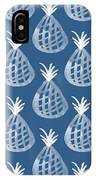 Indigo Pineapple Party IPhone Case by Linda Woods