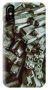 Industrial Letterpress Typeset  IPhone Case