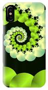 Infinite Chartreuse IPhone Case