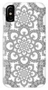 Infinite Lily In Black And White IPhone Case
