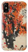 Ink Painting A Tree Gules Persimmon Girl IPhone Case