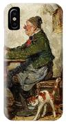 Innkeeper With A Cat IPhone Case
