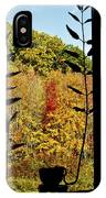 Inside Looking Outside At Fall Splendor IPhone Case