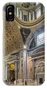 Inside St Peter's Basilica Rome IPhone Case