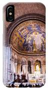 Interior Sacre Coeur Basilica Paris France IPhone Case
