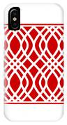 Intertwine Latticework With Border In Red IPhone Case