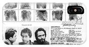 Investigator's Copy - Ted Bundy Wanted Document  1978 IPhone Case