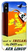 Ireland Vintage Travel Poster Restored IPhone Case