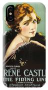 Irene Castle In The Firing Line 1919 IPhone Case