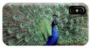 Iridescent Blue-green Peacock IPhone Case