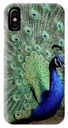 Iridescent Blue-green Peacock IPhone Case