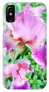 Iris Flower Photograph I IPhone Case