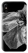 Iris In Black And White IPhone Case