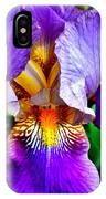 Iris In Bloom IPhone Case