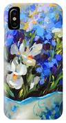Irises And Blue Glass IPhone Case