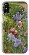 Irises At Bedfield IPhone Case