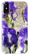 Irises Floral Art Iris Flowers Purple White Baslee Troutman IPhone Case