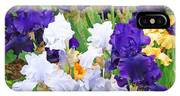 Irises Flowers Garden Botanical Art Prints Baslee Troutman IPhone Case