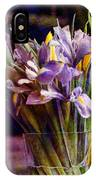 Irises In A Glass IPhone Case