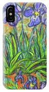 Irises In A Sunny Garden IPhone Case