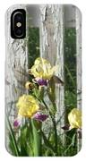 Irises On A Pickett Fence IPhone Case