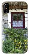Irish Cottage Window County Clare Ireland IPhone Case