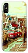 Irish Pubs And Bistros Downtown Montreal IPhone Case