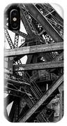 Iron Bridge Close Up In Black And White IPhone Case