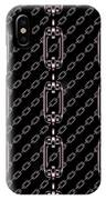 Iron Chains With Black Background Seamless Texture IPhone Case