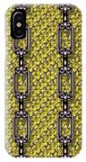 Iron Chains With Knit Seamless Texture IPhone Case
