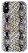 Iron Chains With Metal Panels Seamless Texture IPhone Case