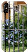 Iron Gate And Blue Flowers IPhone Case