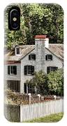 Ironmaster Mansion At Hopewell Furnace  IPhone Case