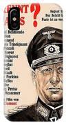 Is Paris Burning Gert Frobe As General Dietrich Von Chlitz German Theatrical Poster 1966 IPhone Case