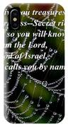 Isaiah Scripture  IPhone Case
