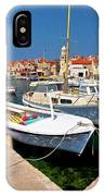 Island Of Prvic Harbor And Waterfront View In Sepurine Village IPhone Case