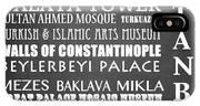 Istanbul Famous Landmarks IPhone Case