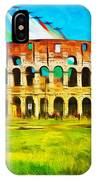 Italian Aerobatics Team Over The Colosseum IPhone X Case