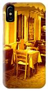 Italian Cafe In Golden Sepia IPhone Case