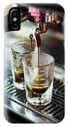 Italian Espresso Expresso Coffee Making Preparation With Machine IPhone Case