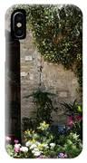 Italian Front Door Adorned With Flowers IPhone Case