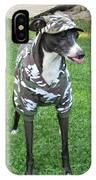 Italian Greyhound Army IPhone Case