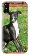Italian Greyhound Wine IPhone Case