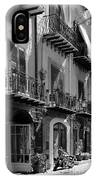 Italian Street In Black And White IPhone X Case