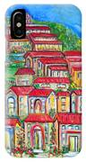 Italian Village On A Hill IPhone Case