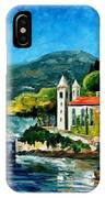 Italy - Lake Como - Villa Balbianello IPhone Case