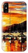 Italy - Naples Harbor- Vesuvius IPhone Case