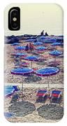 Italy, Sanremo, The Beach. IPhone Case