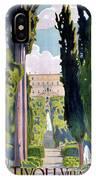 Italy Tivoli Vintage Travel Poster Restored IPhone Case